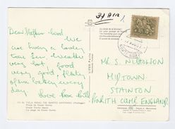 1967 PORTUGAL Stamps COVER (Postcard VILA REAL DE SANTO ANTONIO Praia De Monte Gordo) To GB - 1910-... Republic