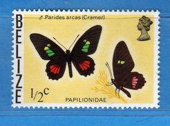 BELIZE- 1974-1975 ** - FARFALLE- Yvert. 335. MNH - NUOVI.  Vedi Descrizione - Belize (1973-...)