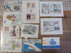 Lot De Blocs Et Feuillets Espagne Exfilna 1986 1988 1987 1990 Codices Correos Espamer Carlos III 500 Descubrimiento - Blocs & Hojas