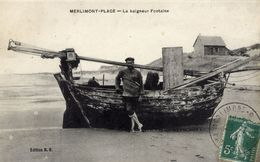 62 MERLIMONT-PLAGE  Le Baigneur Fontaine - Beau Plan, Personnage Nommé - France