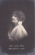 AK Gott Schütze Dich, Herzliebster Mein - Frau Mit Foto - Patriotika - Feldpost Triptis - 1916 (29565) - Frauen
