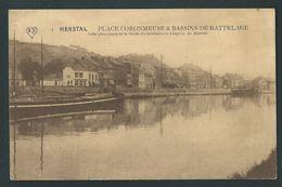 Herstal. Place Coronmeuse & Bassins De Battelage. Péniche. - Herstal