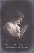AK Wenn Ich In Deine Augen Seh... - Frau Mit Foto - Patriotika - Feldpost Triptis - 1916 (29566) - Frauen