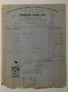 FAGEOL Jeune Succ. ( Affineur De Métaux )  à Mr Sosthène GERBEAU Le 11 Avril 1873 - France
