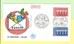 1er Jour. 1984. 28 Avril... Europa Strasbourg .... Cote 2013...3.00 € ...- 70 % - FDC