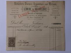 LEMIRE Et DEGUELDRE ( Dorures ) à Mr Sosthène GERBEAU Le 26 Avril 1884 - France