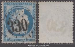 *RARE* GC 330 (Barrême, Basses-Alpes (5)), Cote 150€ - 1849-1876: Classic Period