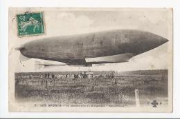 CPA AVI- LE LACHER TOUT DU DIRIGEABLE REPUBLIQUE - Zeppeline