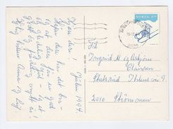 1994 Skedsmokorset NORWAY COVER Stamps 3.50 Sled (postcard Christmas) - Norwegen