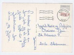 1994 Kjeller NORWAY COVER Stamps 3.50 Sled (postcard Christmas, Horse Sleigh) - Norwegen