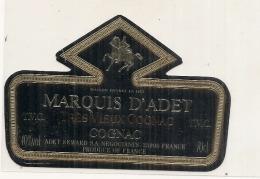 étiquette   - COGNAC  Marquis D'Adet - - Whisky