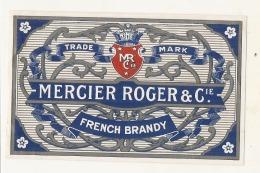 étiquette  - MERCIER ROGER   French Brany - TTB - Whisky