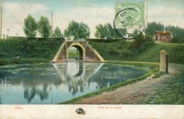BE HALLE    / Pont Sur Le Canal /  CARTE COULEUR - Halle