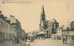 BE HAM SUR HEURE    / La Grand Place Et L'église / - Ham-sur-Heure-Nalinnes