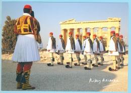 Greece Grèce Griechenland Grecia, Nikos Aliagas Photo, Parthenon, Evzones - Greece