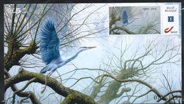 FDC  Duostamps    Sur Papier Photo   (n° 070/125)  Pas D'obl. - 1985-.. Pájaros (Buzin)