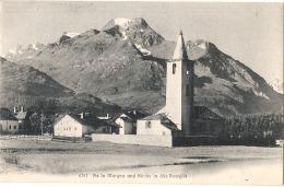 ---- KXK --- Piz La Margna Und Kirche In Basglia Unused TTB - GR Grisons