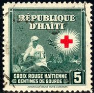 Red Cross, Nurse & Wounded Soldier On Battlefield, Hungary Stamp SC#362 Used - Haïti