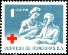 Red Cross, Nurse & Patient, Honduras Stamp SC#RA8 MNH - Honduras