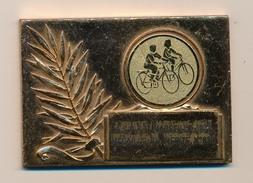 Plaque Métal Doré - ASPTT MARSEILLE 1907 Médaille Du Mérite - Daniel Deslandes 1982 / 1991 - Cycling