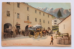 La Poste Au Depart Du Simplon, Schweiz Svizzera Suisse Switzerland - VS Valais