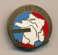 Badge (fixation épingle) - FLECHES DE FRANCE FFCT - Paris / Marseille - Deslandes D 1967 - Cycling