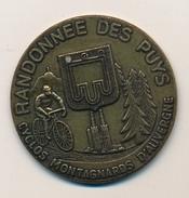 """Médaille - """"Randonnée Des Puys"""" - Cyclos Montagnards D'Auvergne - Cycling"""
