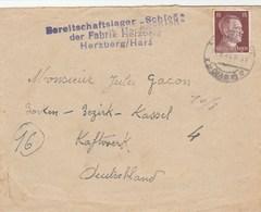 BEREITSCHAFTSLAGER SCHLOB FABRIK HERZBERG/HARZ  PRISONNIER CENSURE POUR FRANCE NUITS ST GEORGES -   TDA41 - Postmark Collection (Covers)