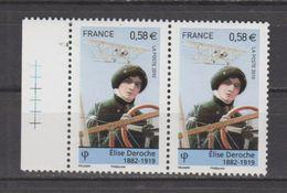 FRANCE / 2010 / Y&T N° 4504 ** : Elise DEROCHE (de Feuille) X 2 En Paire - Gomme D´origine Intacte - France