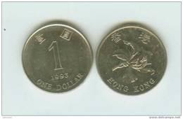 HONG KONG --- HK$1 COIN ----1993----- - Hong Kong