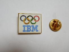 Superbe Pin's , Informatique , IBM , JO Jeux Olympiques - Informatique