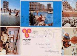 PLAYAMAR LETTRE AVEC PUBLICITE PHOTOGRAPHIQUE DE L'HOTEL - Documentos Antiguos