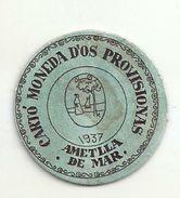 ESPAGNE - 1937 - République Espagnole - CATALOGNE - Ametlla De Mar - Carto Monéda D'os Provisionas Monnaie Carton Timbre - Espagne
