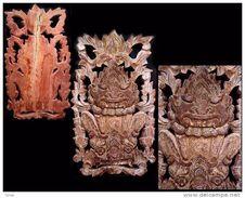 Ornement De Gardien De Temple  / Burmese Wooden Temple Ornament : The Gardian - Art Asiatique