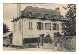 CPA 65 SOUES La Mairie Et L'école - France