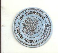 ESPAGNE - 1937 - République Espagnole SARAGOSSE - CASPE-  Carto Monéda D'Uso Provisional - Monnaie Carton Timbre - Espagne