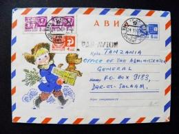Cover From Ussr 1969 Postal Stationery Kiev Ukraine Boy Dog - Briefe U. Dokumente