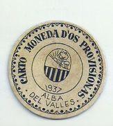 ESPAGNE - 1937 - République Espagnole  BARCELONE- ALBA DEL VALLES  Monéd D'Os Provisionas - Monnaie Carton Timbre - Espagne