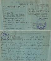 CAMPO PRIGIONIERI TRANSIT POW CAMP RAS EL TIN EGITTO 1942 BRACIGLIANO - Military Mail (PM)