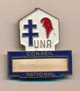 Badge (fixation épingle) - U.N.R Conseil National (Politique) - Pin's