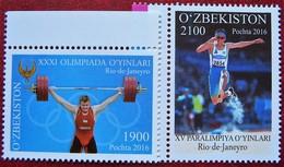 Uzbekistan  2016  Olympic Games In Rio  2 V MNH - Uzbekistan