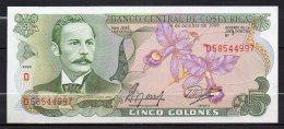 529-Costa Rica Billet De 5 Colones 1989 D585 Neuf - Costa Rica