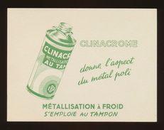 Buvard - CLINACROME - Metallisation A Froid - Buvards, Protège-cahiers Illustrés