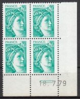 N° 1967 A - X X - Daté 18/07/79 ( Bande De Phospho à Gauche ) - 1970-1979