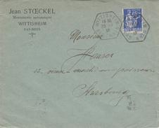 Env Affr Y&T 365 Obl WITTISHEIM Du 29.7.38 Adressée à Strasbourg - Marcophilie (Lettres)