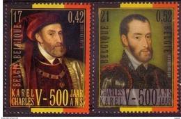 Belgium**Emperor Charles V-Charlequint-Keizer Karel-2vals-2000-Joint Issue With Spain - Belgique