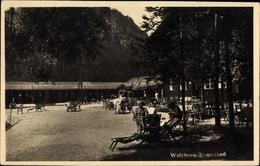 Photo Cp Walchsee In Tirol, Partie Im Strandbad, Liegestuhl, Gebäude, Wald - Österreich