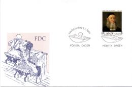 Aland -  Franz Peter Von Knorring 1992 (FDC) - Ålandinseln