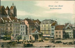 AK Basel, Barfüsserplatz, Um 1900 (S1-337) - BS Bâle-Ville