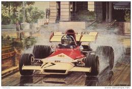 Monaco Grand Prix - 1973 -  Jean-Pierre Beltoise  -  B.R.M.  -  Art Card By Alan Preece - Grand Prix / F1